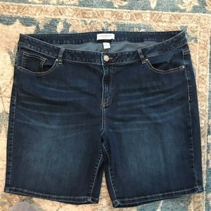 Lane Bryant Jeans Stretch Shorts Size 24